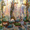 Wasser, Pflanzen, Grün, Malerei