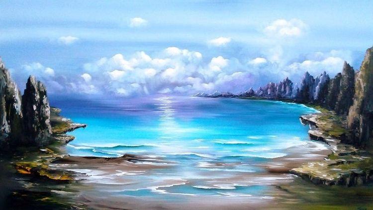 Modern, Meer, Traum, Gemälde, Fantasie, Natur