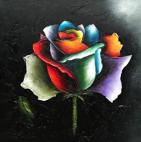Rooz, Modern, Blumen, Blum, Malerei,