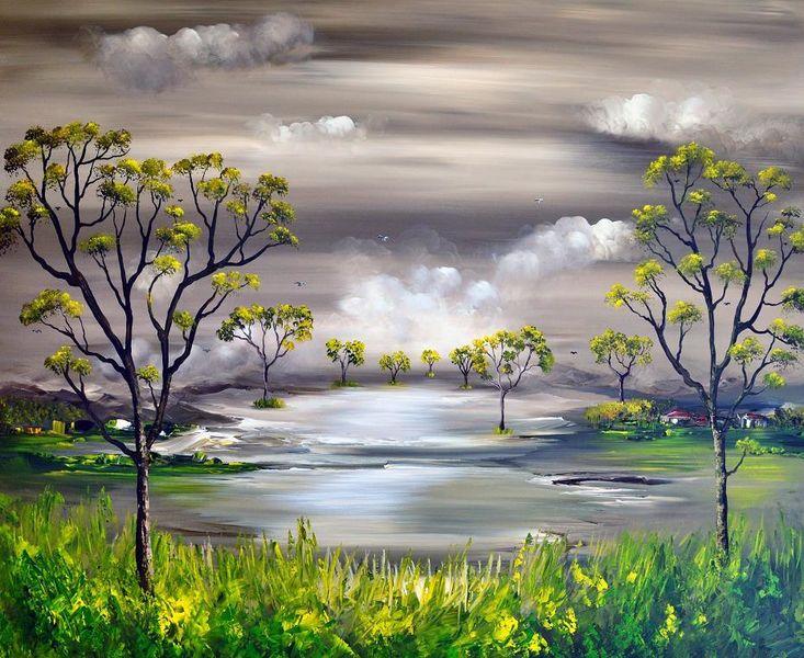 Acrylmalerei, Natur, Surreal, Fantasie, Malerei,