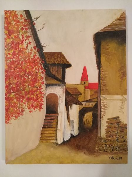 Herbst, Ölmalerei, Wachau, Landschaft, Malerei