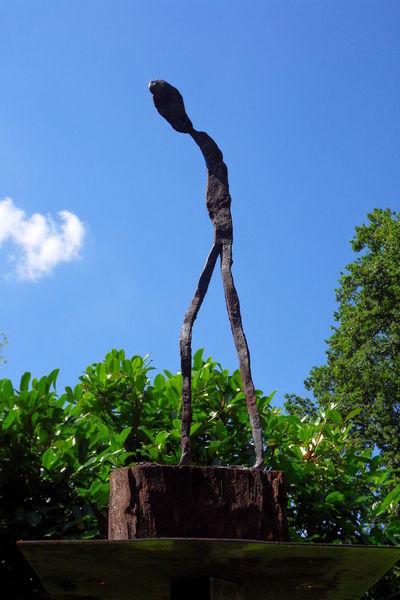 Skulptur, Metall, Eisen, Plastik, Heimweg,
