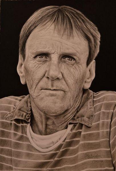 Menschen, Portrait, Figural, Realismus, Zeichnung, Zeichnungen