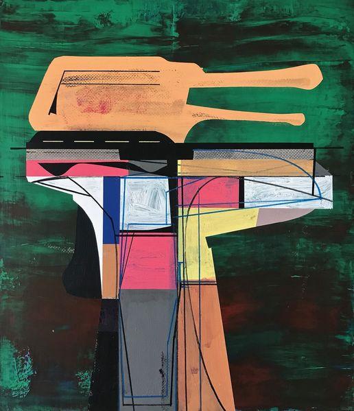 Metaphysisch, Technik, Technologie, Abstrakt, Futurismus, Acrylmalerei