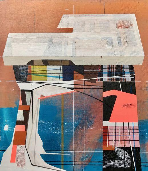 Metaphysisch, Rätsel, Acrylmalerei, Technologie, Futurismus, Modern