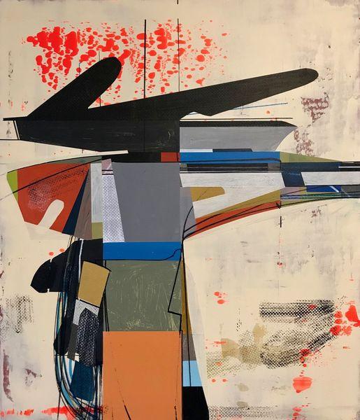 Technik, Orbit, Technologie, Modern, Abstrakt maleri, Zeitgenössisch