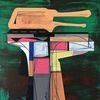 Technologie, Abstrakt, Futurismus, Acrylmalerei