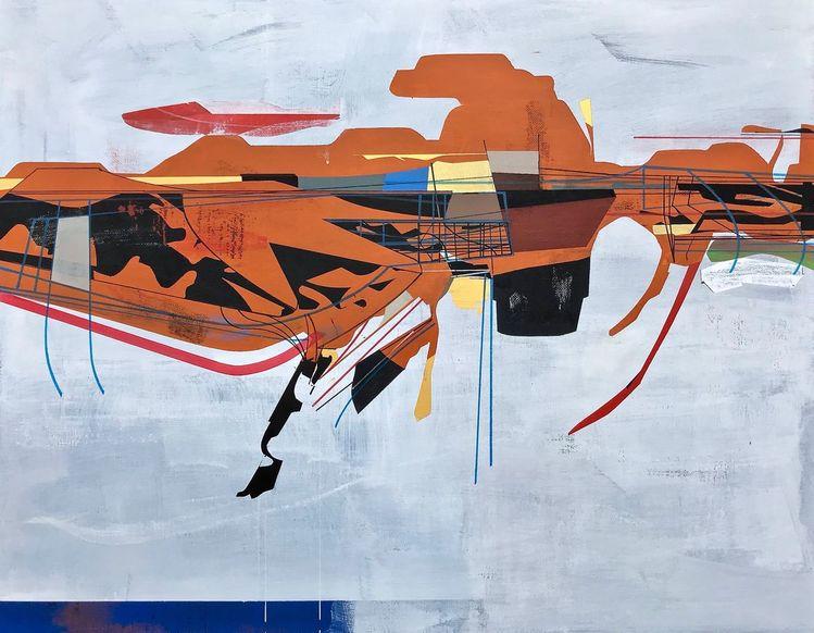 Avantgarde, Acrylmalerei, Doppelgänger, Metaphysisch, Zeitgenössisch, Abstrakt