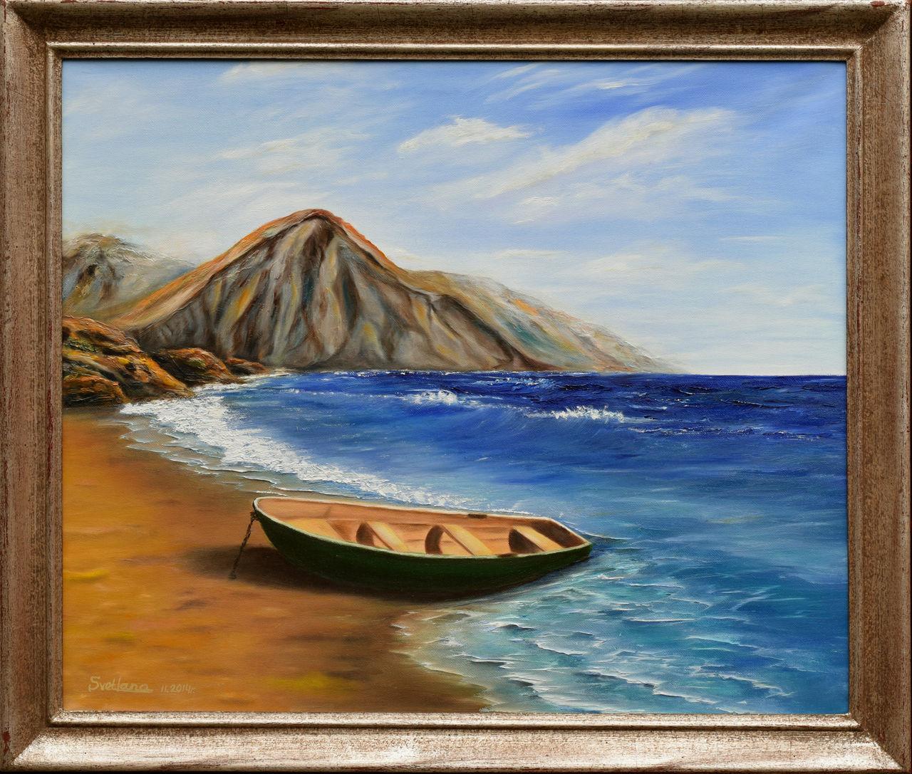 Bild: Gemälde, Rahmen, Meer, Landschaft von Svetlana Shumska bei ...