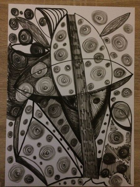 Edding, Schwarz, Abstrakt, Grau, Zeichnungen,