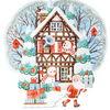 Winterillustration, Weihnachtsmann, Winter postkarten, Illustration