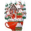 Illustration, Frohe weihnachten, Winter illustration, Schneemann