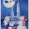 Schnee, Weihnachten, Lindau, Engel