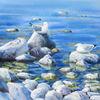 Meer, Stein, Wasser, See