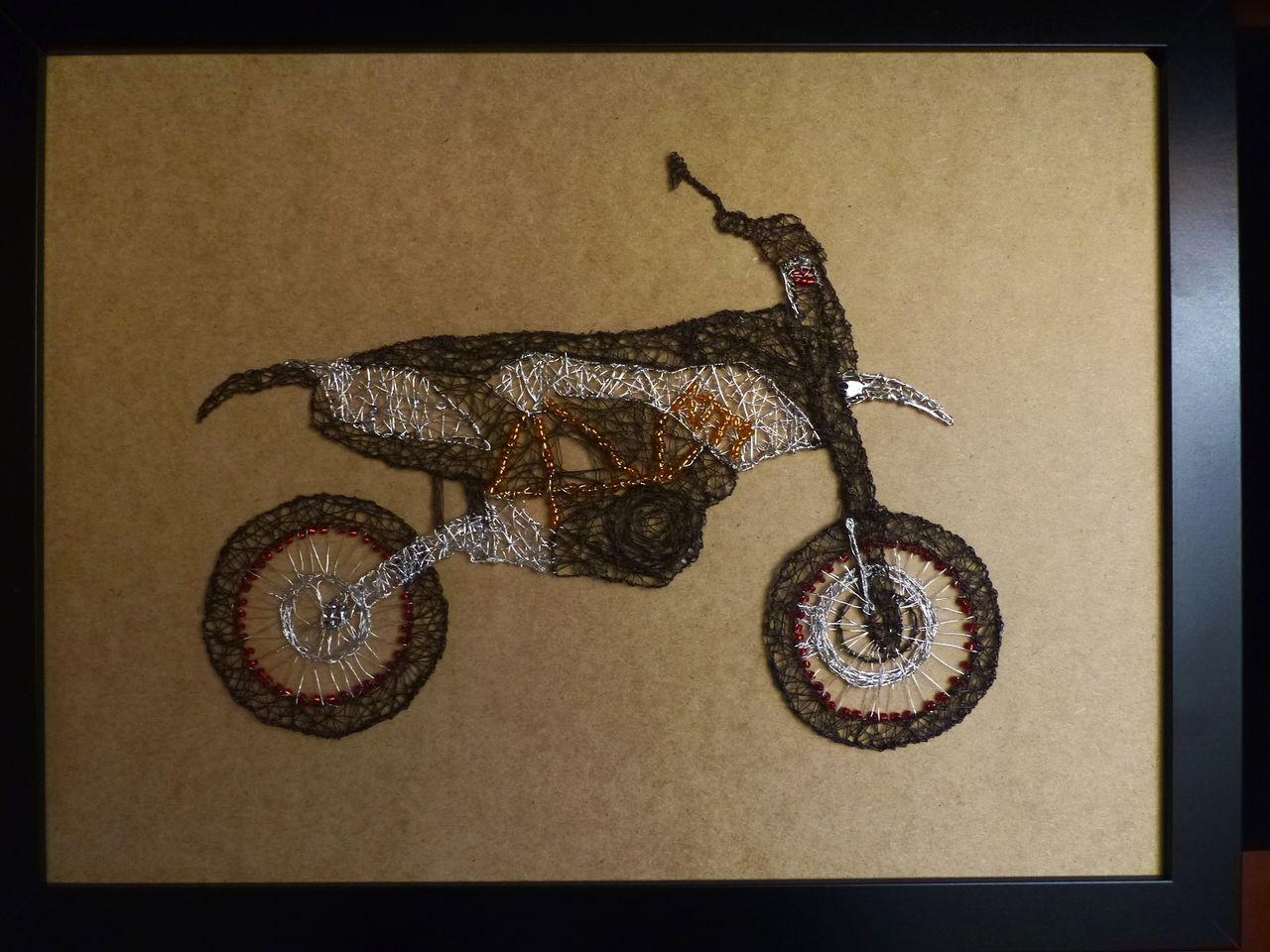 Bild: Ktm, Motorrad, Draht, Kunsthandwerk von Indra_95 bei KunstNet