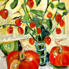 Malerei, Acrylmalerei, Stillleben