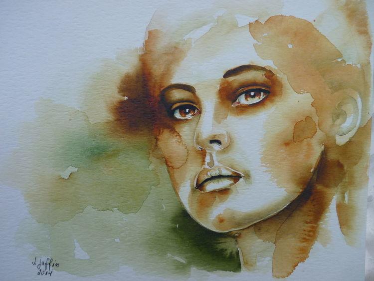 Aquarellmalerei, Gesicht, Portrait, Aquarell