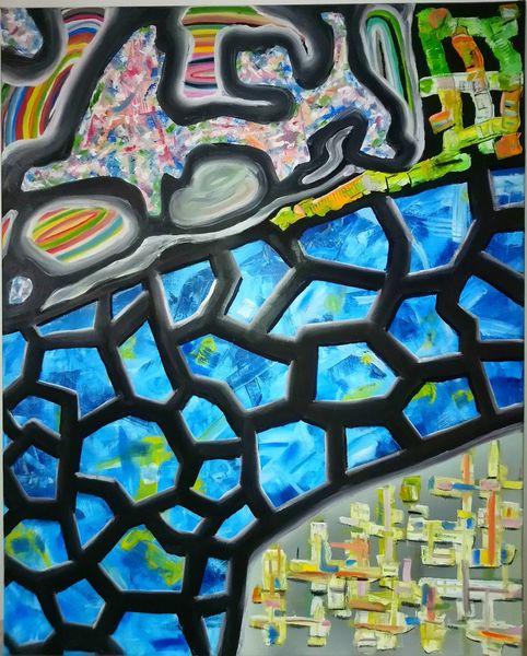 Kontrast, Komplexität, Ölmalerei, Pinselstriche, Gestisch, Malerei
