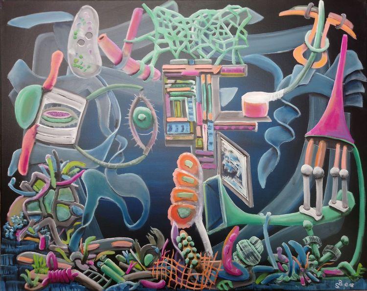 Intuition, Ölmalerei, Fantasie, Komplexität, Chaos, Malerei