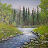 Landschaft, Natur, Baum, Malerei
