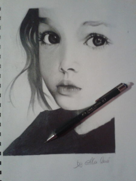 Zeichnung girl, Bleistiftzeichnung, Zeichnungen