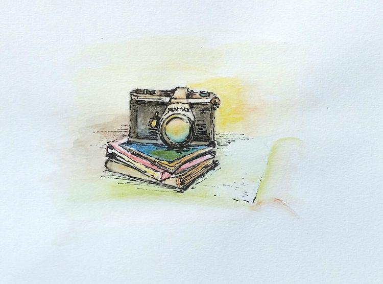 Bookmarks, Buch, Grafik, Landschaft, Kamera, Illustrationen