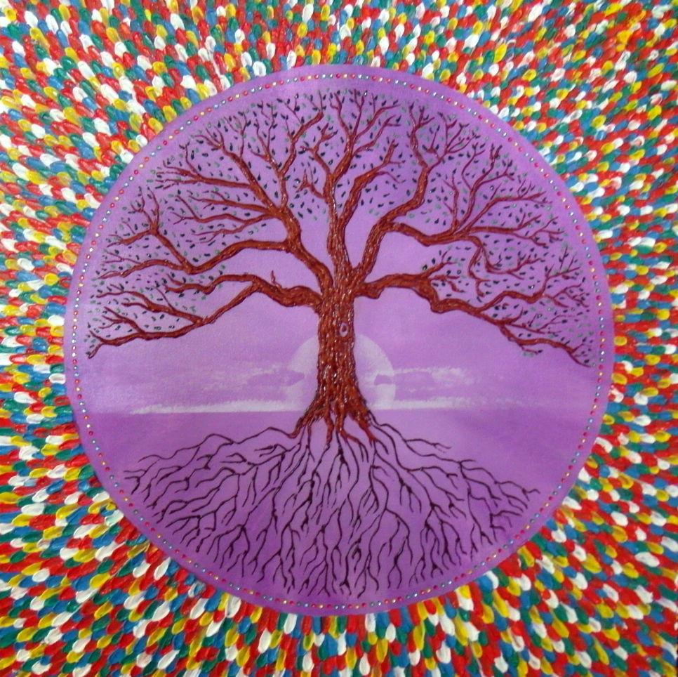 bild lebensbaum spirituell baum des lebens malerei von hardy wagner bei kunstnet. Black Bedroom Furniture Sets. Home Design Ideas