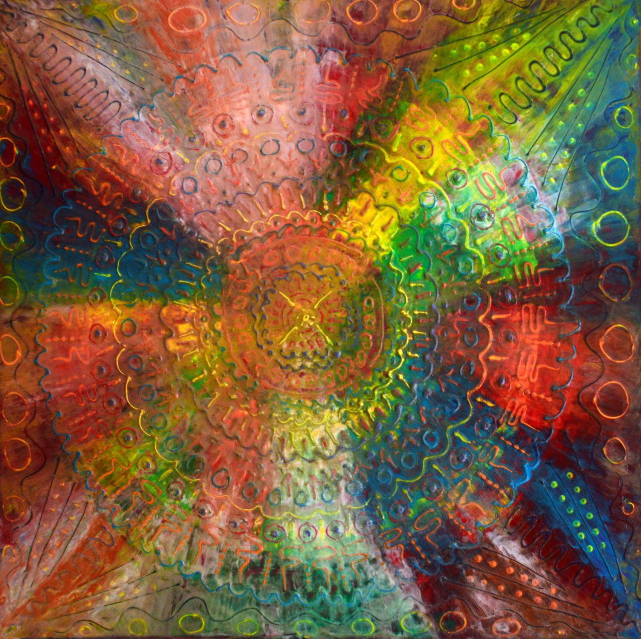 Mandala Maja Mandala Maja Mandala Bunt Mandala Malerei Von