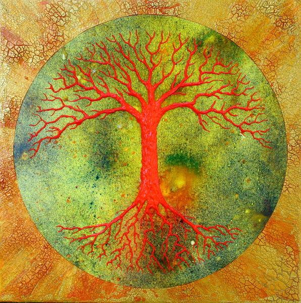 Tree of life, Baum des lebens, Lebensbaum, Malerei,