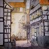 Schatten, Hattingen, Fachwerk, Stadtszene