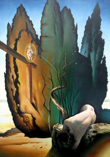 Stunde, 2014, Öl auf lw, Gärtner, 070 x 0, Dialog