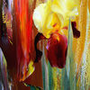 Rot, Coburg, Abstrakte landschaft, Malerei