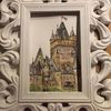 Aquarellmalerei, Reichsburg, Burg, Festung