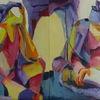 Malen, Strand, Diptychon, Malerei