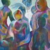 Figur, Blau, Grau, Schichtenbild