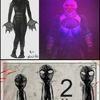 Alien, Clown, Mischtechnik,