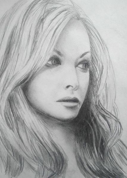 Portrait anastacia, Zeichnungen, Portrait