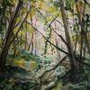 Wald, Licht, Schatten, Aquarell