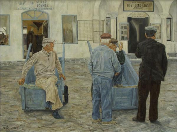 Malerei, Herrenrunde,