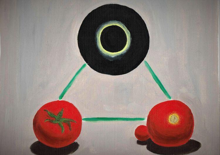 Korona, Sonnenfinsternis, Tomate, Malerei