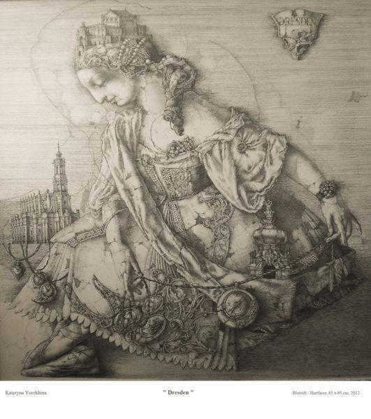 Simbolismus, Geschischte, Frauenbildniss, Zeichnung, Allegorie, Detailliert altertümlich