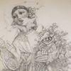 Sänger, Narr, Blumenstrauß, Frau