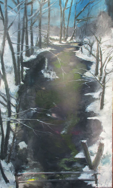 Mondschein, Nacht, Schnee, Malerei
