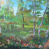 Birken, Blätter, Malerei,