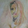 Ausdruck, Haare, Frau, Malerei
