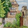 Aquarellmalerei, Erfurt, Augustinerkloster, Aquarell