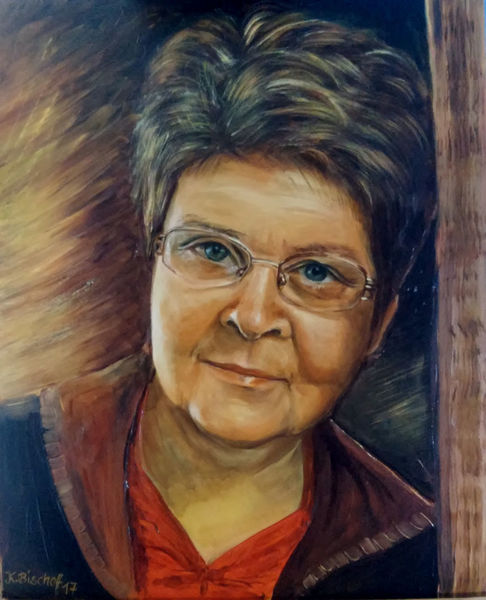 Menschen, Frau, Portrait, Ölmalerei, Malerei