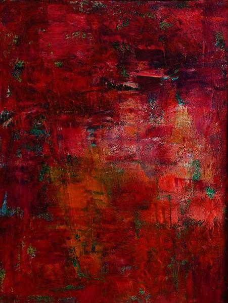 Rot, Malerei, Spachteltechnik, Abstrakt
