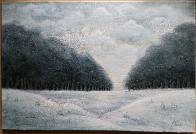 Winter, Landschaft, Schnee, Weiß, Baum, Grau