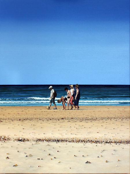 Himmel, Meer, Familie, Licht, Sand, Malerei